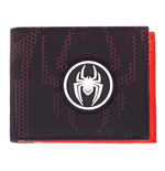 MARVEL COMICS Spider-man Miles Morales Logo Bi-fold Wallet, Male, Black/Red
