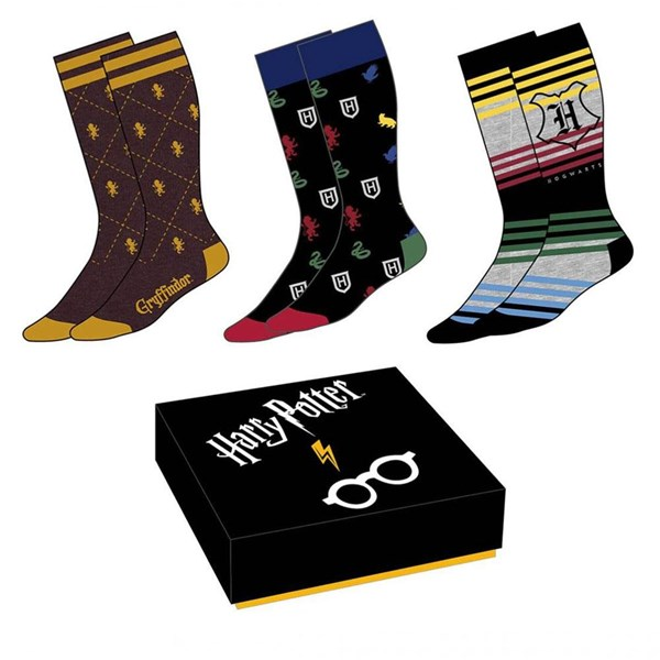 Harry Potter 3pk Socks Gift Box