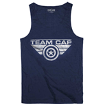 Marvel Comics Men's Vest Tee: Captain America Civil War Team Cap