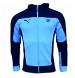 2020-2021 Man City Evostripe Hooded Jacket (Light Blue)
