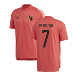 2020-2021 Belgium Adidas Training Tee (Red) (DE BRUYNE 7)