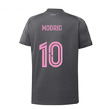 2020-2021 Real Madrid Adidas Training Shirt (Grey) - Kids (MODRIC 10)
