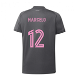 2020-2021 Real Madrid Adidas Training Shirt (Grey) - Kids (MARCELO 12)
