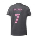 2020-2021 Real Madrid Adidas Training Shirt (Grey) - Kids (HAZARD 7)