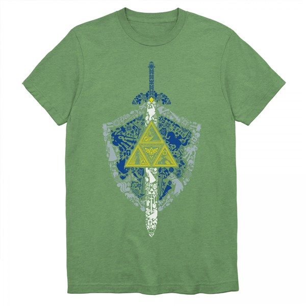 Nintendo Zelda Link's Shield and Sword Crest Symbol T-Shirt
