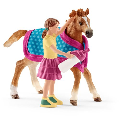 SCHLEICH Horse Club Foal Horse Toy Figure with Blanket