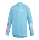2020-2021 Real Madrid Training Top (Bright Cyan) - Kids