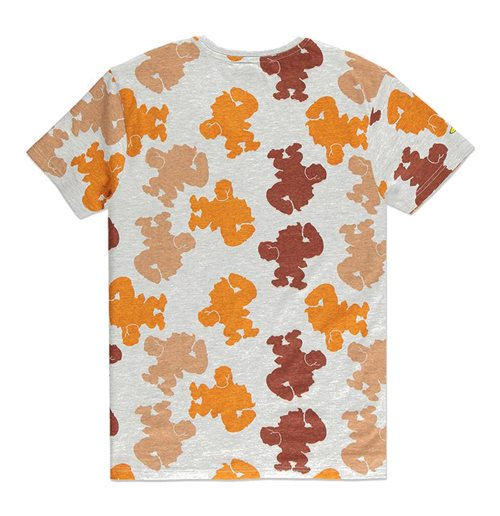 NINTENDO Donkey Kong Colour Silhouette All-Over Print T-Shirt, Male, Extra Extra Large, Grey