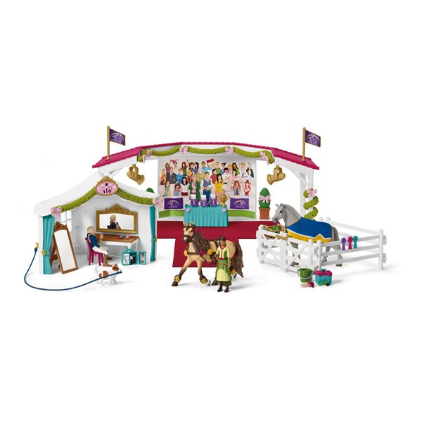 SCHLEICH Horse Club Big Horse Show Playset, 5 to 12 Years
