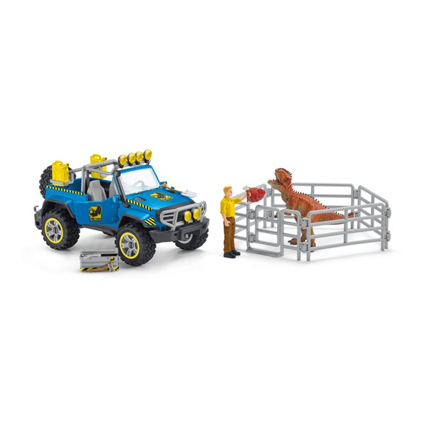 SCHLEICH Dinosaurs Off-Road Vehicle with Dino Outpost Playset, 4 to 10 Years