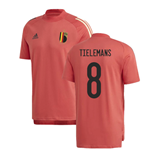 2020-2021 Belgium Adidas Training Tee (Red) (TIELEMANS 8)