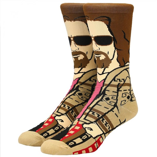The Big Lebowski The Dude 360 Character Men's Crew Socks
