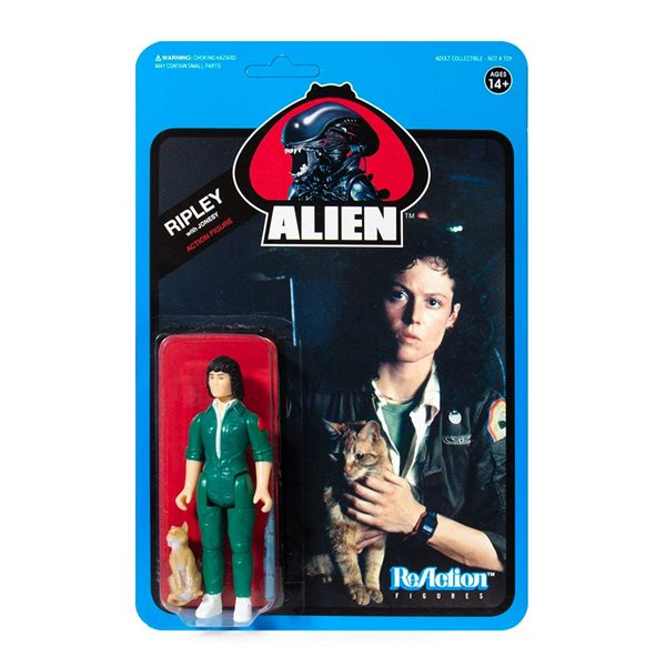Aliens ReAction Action Figure Wave 3 Ripley with Jonesy (Blue Card) 10 cm