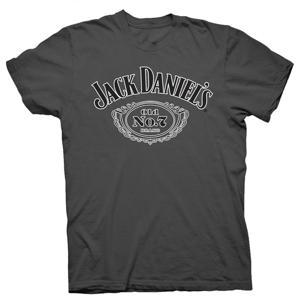 Jack Daniel's Old No.7 Brand Logo Grey T-Shirt