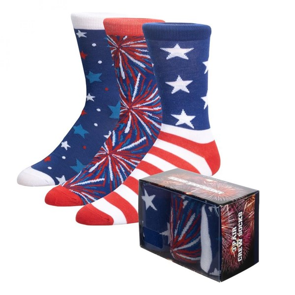 Americana 3-Pair Pack of Crew Socks Box Set