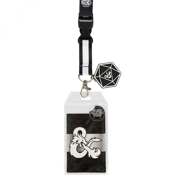 Dungeons  and  Dragons Metal Lanyard With Charm and Card Holder