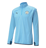 2020-2021 Man City Warmup Midlayer (Light Blue)