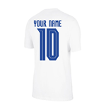 2020-2021 Croatia Crest Tee (White) (Your Name)