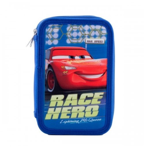 Cars (R) pencil case triple filled