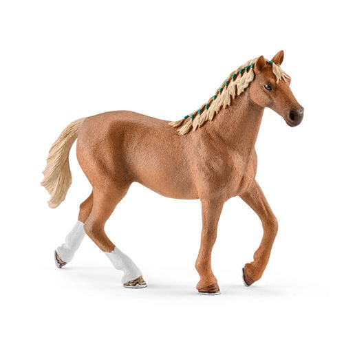 SCHLEICH Horse Club English Thoroughbred Horse Toy Figure with Blanket