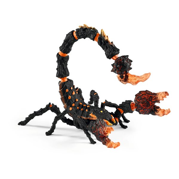 SCHLEICH Eldrador Creatures Lava Scorpion Toy Figure, 7 to 12 Years, Multi-colour
