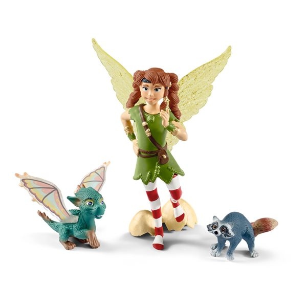 SCHLEICH Bayala Movie Marween with Nugur and Piuh Toy Figure Set, 5 to 12 Years, Multi-colour