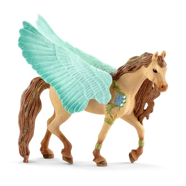 SCHLEICH Bayala Decorated Pegasus Stallion Toy Figure, 5 to 12 Years, Multi-colour