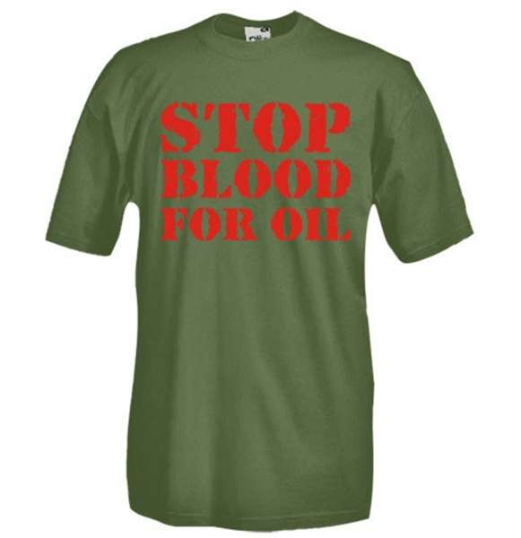 Stop Blood For Oil T-shirt