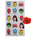 Marvel Comics Blast 2pc Bath Towel and 3D Loofah Set