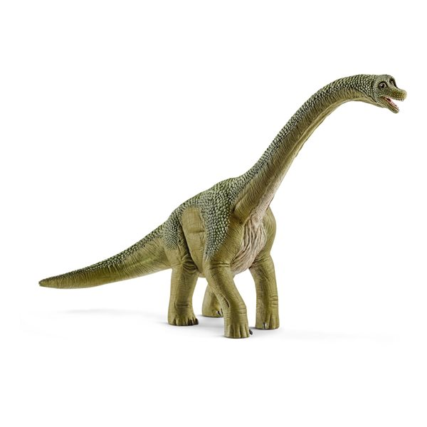 SCHLEICH Dinosaurs Brachiosaurus Toy Figure, 4 to 12 Years, Green/Tan
