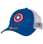 Captain America Symbol Trucker New Era 9Forty Adjustable Hat