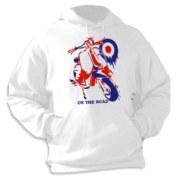 On The Road (Vespa Lambretta) Hoodie