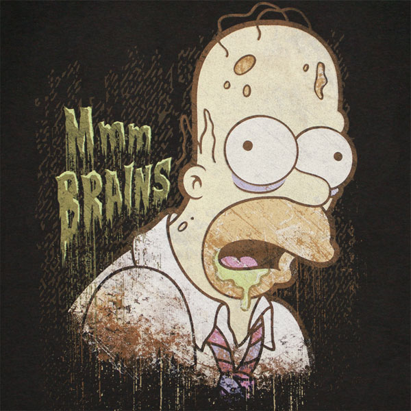 Texas Gas Prices >> Buy Official The SIMPSONS Homer Zombie Brains Black Tee Shirt