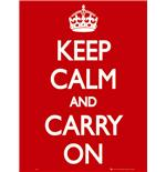 Keep Calm and Carry On Mini Poster