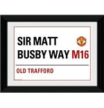"Manchester United Street Sign Framed 16x12"" Photographic Print"