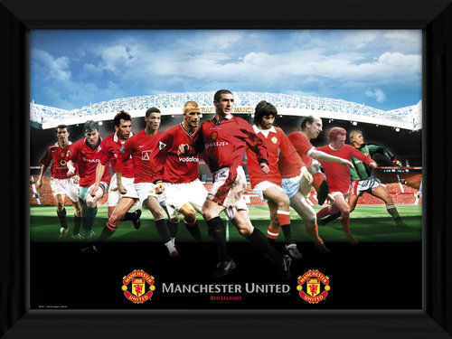 Manchester United Legends Framed Photographic Print For