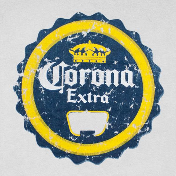 Buy Official Corona Extra Bottle Cap Opener Print T Shirt