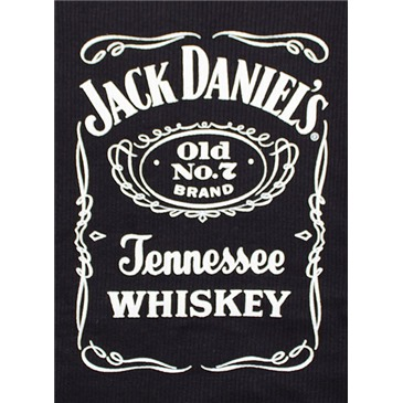 Jack Daniel's Whiskey Label Logo Black Ribbed Womens Tank Top