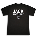 Jack Daniel's Whiskey Lives Here Black Graphic Tee Shirt