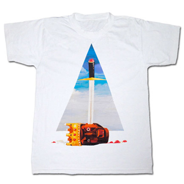 KANYE WEST Power Triangle White Lightweight Graphic Tee Shirt