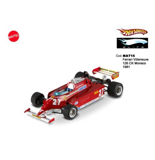 Toy car model Ferrari Villeneuve 126 Ck Monaco 1981 1:43 Elite