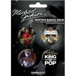 Michael Jackson-King Of Pop-Badge Packs