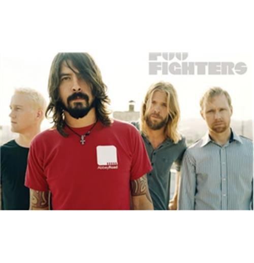 Foo Fighters-White-Poster
