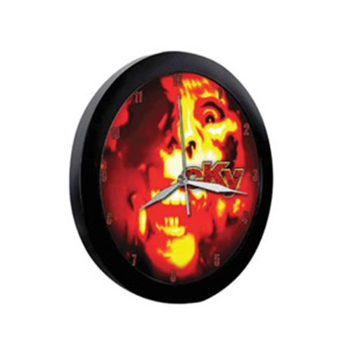 Cky-Flame Skull-Wall Clock