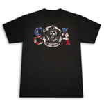 SONS OF ANARCHY SOA American Flag Reaper Black Graphic Tee Shirt