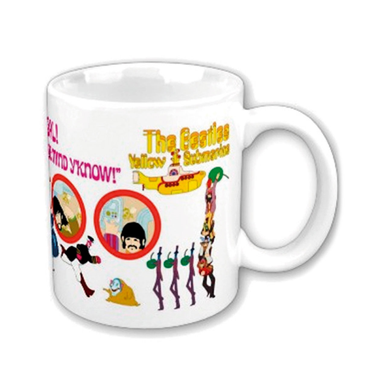 The Beatles Mug Yellow Sub Nothing Is Real. Emi Music officially licensed product.