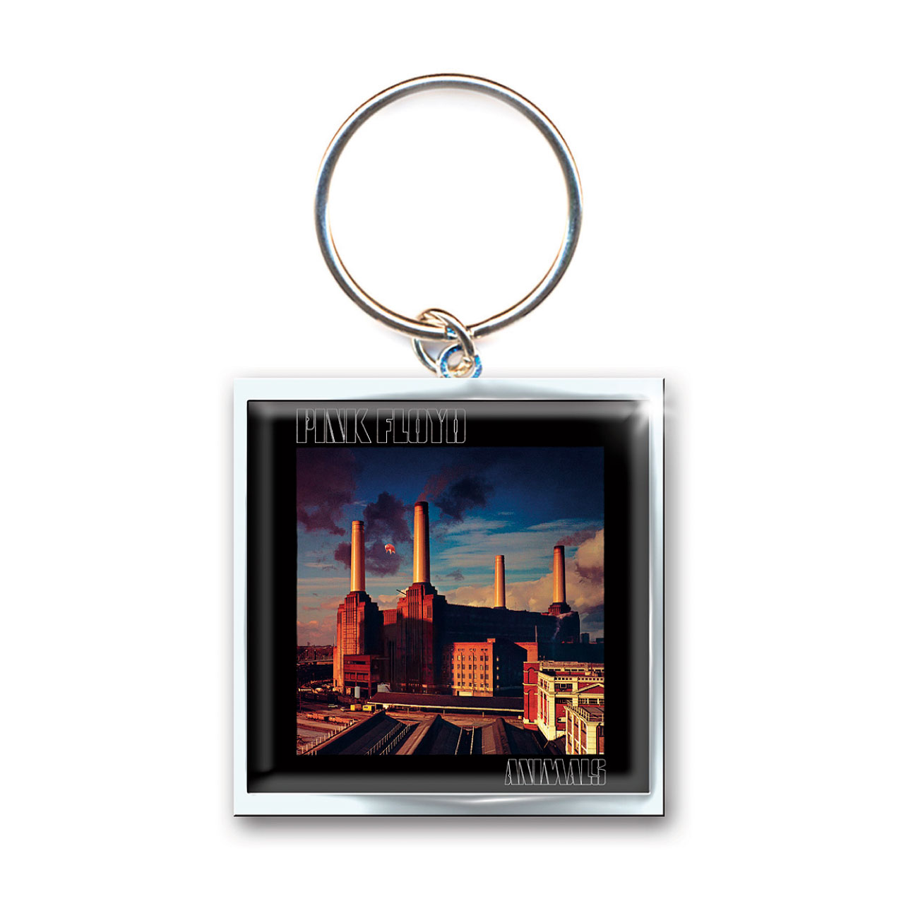 Keyring Pink Floyd - Animals. Emi Music officially licensed product.