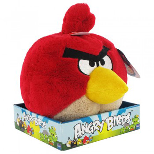 Angry Birds Toys With Sound : Angry birds soft toy with sound design red