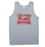 MILLER High Life Logo Heather Gray Mens Tank Top