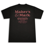 MAKER'S MARK Whisky Label Black Graphic Tee Shirt